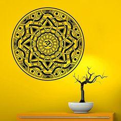 Wall Decals Vinyl Sticker Mandala Decal Ornament Indian Geometric Moroccan Pattern Yoga Namaste Om Symbol Home Decor Murals Bedroom Studio: Amazon.co.uk: Kitchen & Home