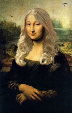 Mona Lisa with blonde hair art