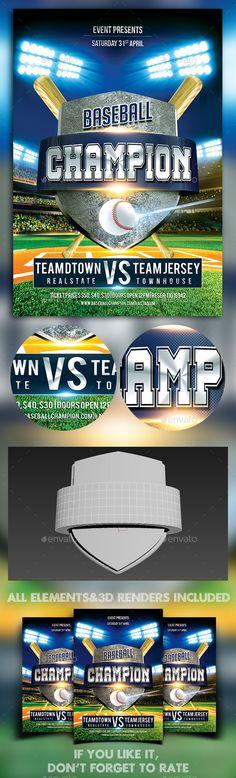 Baseball Game Flyer Template Baseball games, Flyer template and - baseball flyer