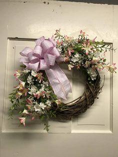 Front Door Spring Wreath Spring Farmhouse Wreath Front Door