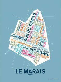 La Cabane à Eugène - Le Marais - Paris http://lacabaneaeugene.bigcartel.com/product/affiche-le-marais-paris