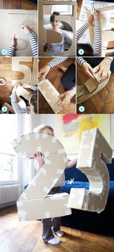 Como fazer letras decorativas how to make decorative letters and pinates step by step from the base This image . Cardboard Letters, Diy Letters, 21st Birthday Decorations, Balloon Decorations, Diy And Crafts, Paper Crafts, Diy Party, Paper Flowers, Diy Wedding