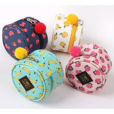 Wanna This Pop art small tambourine round pouch - fallindesign
