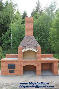 """Determine more details on """"built in grill patio"""". Browse through our website. Backyard Kitchen, Outdoor Kitchen Design, Backyard Bbq, Outdoor Barbeque, Pizza Oven Outdoor, Outdoor Fireplace Designs, Backyard Fireplace, Parrilla Exterior, Brick Grill"""