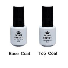 5ml BORN PRETTY Top Coat Gel Or Base Coat  Fundation Gel Polish for No Wipe Soak Off UV Gel 1 Bottle