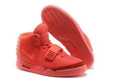 new product e699d 6c369 ... nike  air yeezy ii for kanye west sports shoe red october women size
