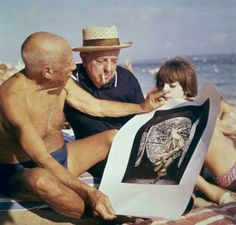 Pablo Picasso and Jacques Prevert by Robert Doisneau, 1963