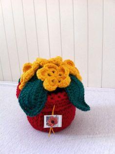 Crochet flower plant evergreen by Kilewia on Etsy, $15.00
