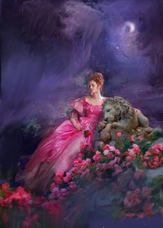 Artist James Griffin. Cover of the book: When Beauty Tamed the Beast by Eloisa James.