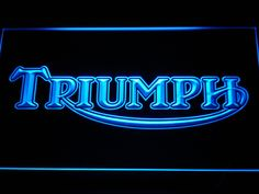 Triumph Motorcycles Services Repairs LED Neon Sign Man cave in Home, Furniture & DIY, Home Decor, Plaques & Signs Bonneville Cafe Racer, Triumph Bonneville, Cool Bedroom Accessories, Man Cave Accessories, Triumph Motorbikes, Triumph Motorcycles, Triumph Scrambler, Neon Light Signs, Led Neon Signs
