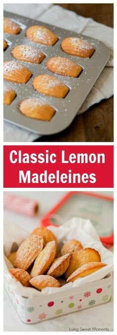 These Classic Lemon Madeleines cookies are soft, buttery, & delicious. Enjoy delicate French cookies that are super easy to make and give out as DIY Gifts via @Livingsmoments #holiday #holidaycookies