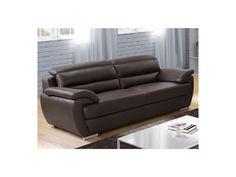 3-Sitzer Sofa Leder Talmo - Braun