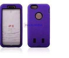 Purple - 4.7 - Apple Iphone 6 Dual Layer Tough Case Pro Ultra Like Otterbox C1 caryshop
