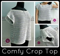 Crochet comfy crop top - Maz Kwok's Designs