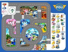 bache imprimée tapis circuit voiture robocar poli in Jeux, jouets, figurines, Circuits | eBay