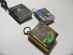 Lord of the Rings Series Miniature Book Pendants - set of 3 - The Two Towers, Return of the King included  #thecraftstar  #handmade  $35.00