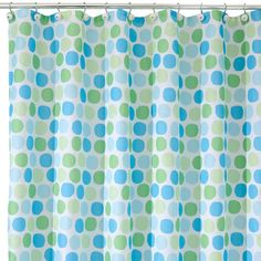 "InterDesign Rialto Polyester Shower Curtain - Blue/Green (72"" x 72"")"