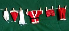 GUIRLANDE DE NOEL : La lessive du Père Noel avec caleçon à pois : Décorations murales par marie-therese-v