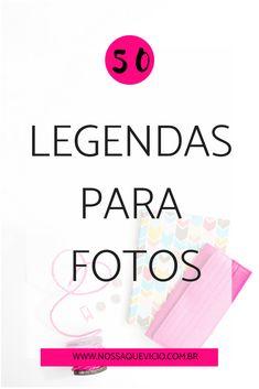 50 LEGENDAS PARA FOTOS Instagram Blog, Instagram Words, Frases Tumblr, Digital Marketing, Social Media, Selfie, Thoughts, Nostalgia, Learning