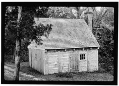 1.  Old log slave cabin - 'D' on diagram - Sotterly, Slave Quarters, State Route 245 & Vista Road Vicinity, Hollywood, St. Mary's County, MD...