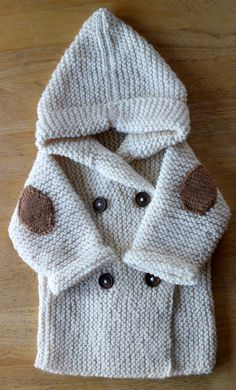 Check out this item in my Etsy shop https://www.etsy.com/ie/listing/267764917/hand-knitted-baby-hoodie-with-pixie-hood