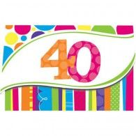 40th Birthday Invitations (8pk) $10.50 20890412