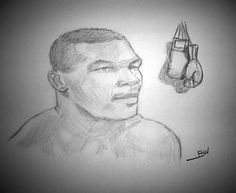 Mike Tyson PRINT just printed on semi gloss canon paper this is the picture of actual item for sale. Mike Tyson Boxing, Puerto Rico Pictures, Sports Drawings, Pencil Drawings, Champion, Iron, Prints, Pencil Art, Steel