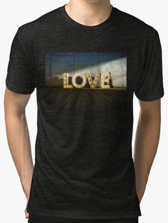 Lights Of LOVE - light bulb letters von Black Sign Artwork (Vintage T-Shirts)