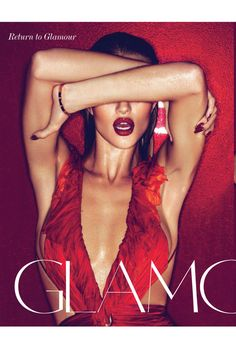 Rosie Huntington-Whiteley - March 2011 red scarlett structured glamour deep red