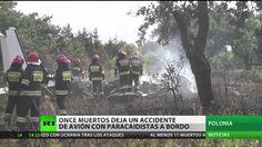 Polonia: 11 muertos tras un accidente de avión con paracaidistas