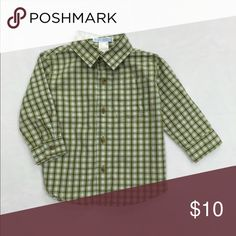 Janie and Jack Baby Boy Plaid Button Up Shirt Pastel green and blue plaid shirt for baby boy. VGUC. Great for Spring and Easter. Size 6-12 months. Bundle to save! Janie and Jack Shirts & Tops Button Down Shirts