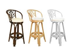 "VALENCIA WICKER RATTAN 30"" BAR STOOL & 24"" COUNTER STOOL TROPICAL FURNITURE #HospitalityRattan #Tropical"