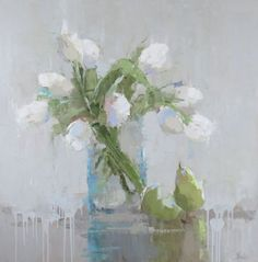 Barbara Flowers -White Tulips and Pears