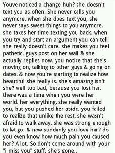 I Love This Just Because You Say You Miss Being In Love Doesnt