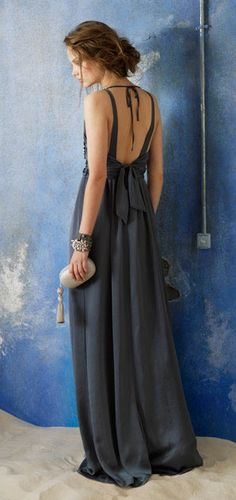 love casual long, open back dresses.