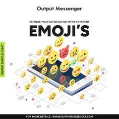 Express your feelings in the chat with smileys and emojis! With few finger swipes, use emojis and create richer and more productive conversation at workplace. Clarify your tone of voice and add some color to your conversations Different Emojis, Time Management Tools, Local Area Network, Enterprise Business, Active Directory, Instant Messenger, Browser Support, Instant Messaging, Make Business
