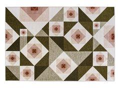 Rectangular rug ROSE by Calligaris design Valerio Sommella