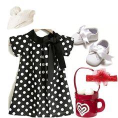 Baby-Girl-Fashion-Dresses:  polka dot