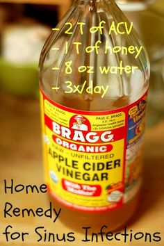 sinus infection home remedy | ... to their sinus infections this acv steam home remedy really seemed to