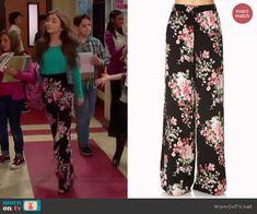 Riley's floral pants on Girl Meets World.  Outfit Details: http://wornontv.net/40986/ #GirlMeetsWorld