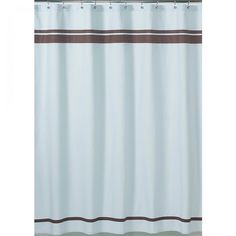 JoJo Designs Blue and Brown Hotel Shower Curtain - ShowerCurtain-Hotel-BU-CH