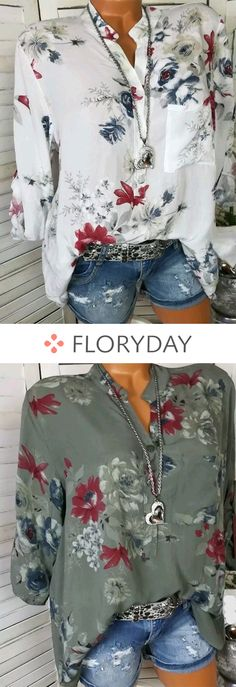 Floral Casual Cotton Collar Long Sleeve Blouses, floral blouse, casual blouse, casual, cotton, collar blouse, fashion tops, long sleeve, outfit.