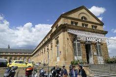 Marché Couvert von außen, Metz, Frankreich, Markthalle