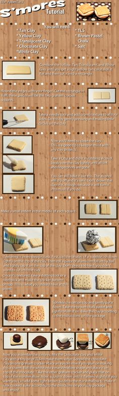Tutorial - Polymer Clay S'mores by *Bon-AppetEats on deviantART