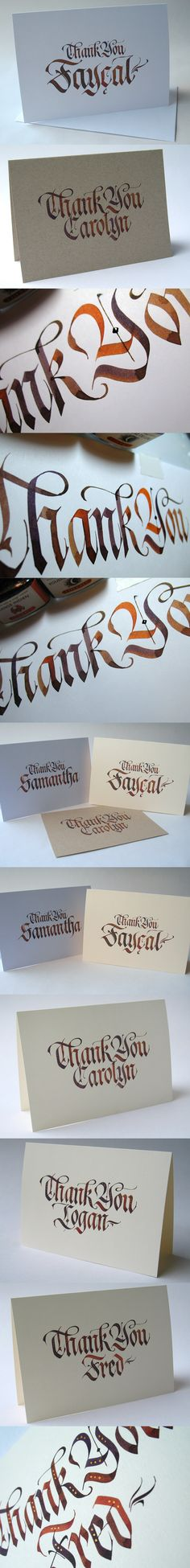 Alice Young - Calligraphy Thank You Cards