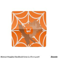 Abstract Pumpkin Checkbook Cover