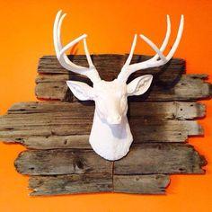 White Faux Deer Head - Faux Taxidermy - Darby Smart