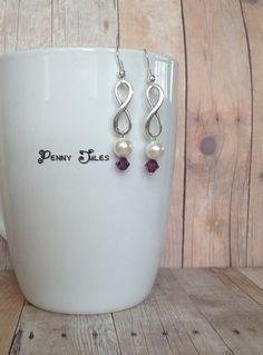 Infinity earrings by PennyJules on Etsy, $10.00