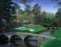 Augusta, GA  a beautiful day with my son eating pimento cheese sandwiches and watching Tiger Woods, et al