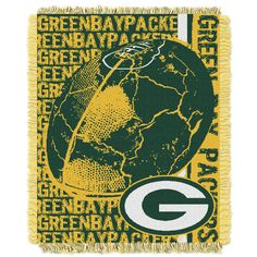 NFL Green Bay Packers Triple Woven Jacquard Throw Blanket